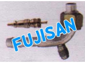 Aluminum Pipe Fitting w/ charge valve r-12 w/ metal nut