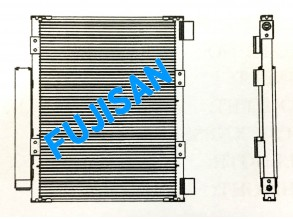 Condenser - Isuzu NPR 150 Euro III '2008 (RHD.)